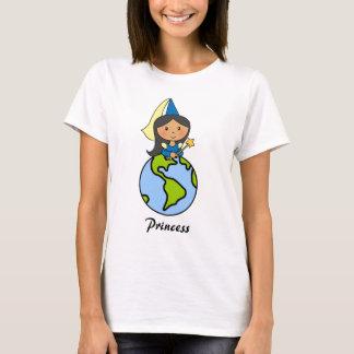 Cartoon Clip Art Cute Princess on Top of the World