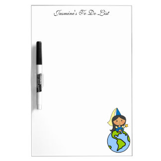 Cartoon Clip Art Cute Princess on Top of the World Dry Erase Board