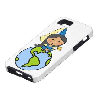Cartoon Clip Art Cute Princess on Top of the World iPhone SE/5/5s Case