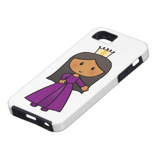 Cartoon Clip Art Cute Princess with Tiara iPhone 5 Cases