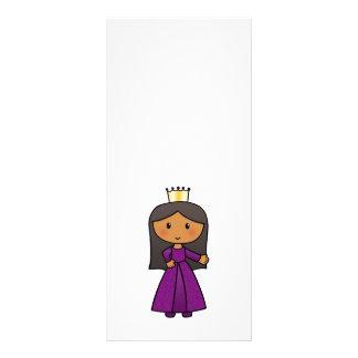 Cartoon Clip Art Cute Princess with Tiara Full Color Rack Card