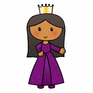 Cartoon Clip Art Cute Princess with Tiara Statuette