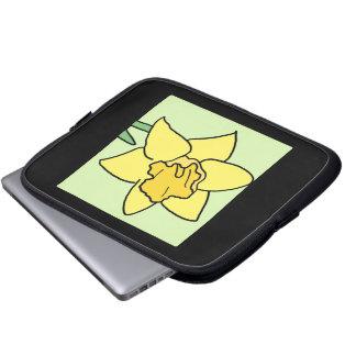 Cartoon Clip Art Daffodil Spring Garden Flower Computer Sleeve