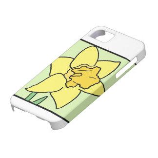 Cartoon Clip Art Daffodil Spring Garden Flower iPhone SE/5/5s Case
