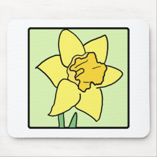 Cartoon Clip Art Daffodil Spring Garden Flower Mouse Pad