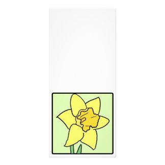 Cartoon Clip Art Daffodil Spring Garden Flower Personalized Rack Card