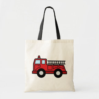Cartoon Clip Art Firetruck Emergency Vehicle Truck Budget Tote Bag