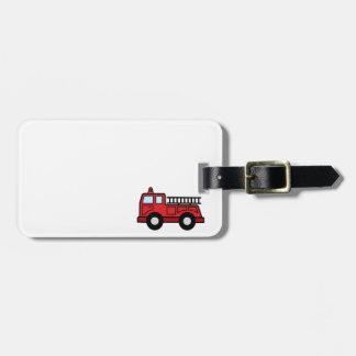 Cartoon Clip Art Firetruck Emergency Vehicle Truck Bag Tag