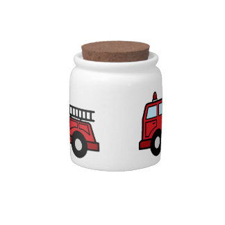 Cartoon Clip Art Firetruck Emergency Vehicle Truck Candy Dishes
