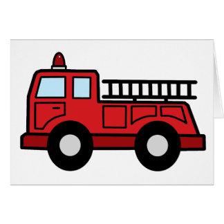 Cartoon Clip Art Firetruck Emergency Vehicle Truck Cards