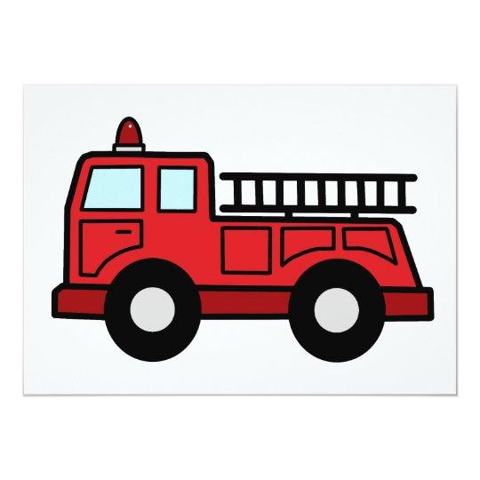 Cartoon Clip Art Firetruck Emergency Vehicle Truck Card
