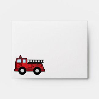 Cartoon Clip Art Firetruck Emergency Vehicle Truck Envelope