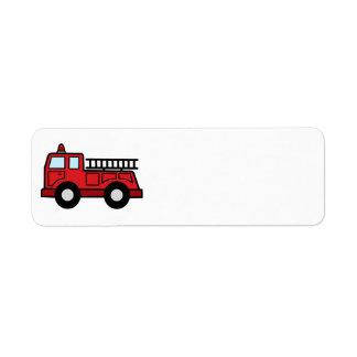 Cartoon Clip Art Firetruck Emergency Vehicle Truck Label