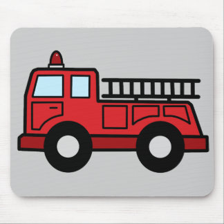 Cartoon Clip Art Firetruck Emergency Vehicle Truck Mouse Pad
