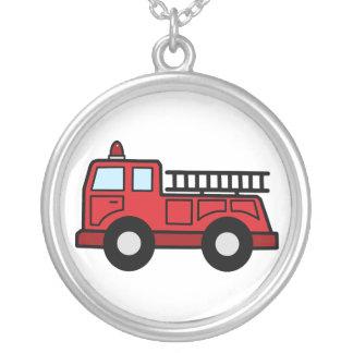 Cartoon Clip Art Firetruck Emergency Vehicle Truck Personalized Necklace