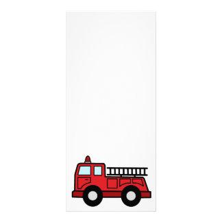 Cartoon Clip Art Firetruck Emergency Vehicle Truck Rack Card Template