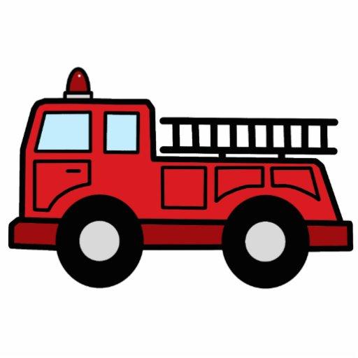 Cartoon Clip Art Firetruck Emergency Vehicle Truck Standing Photo Sculpture