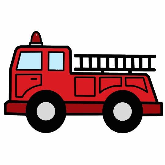 Cartoon Clip Art Firetruck Emergency Vehicle Truck Statuette