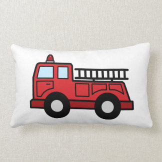 Cartoon Clip Art Firetruck Emergency Vehicle Truck Throw Pillow
