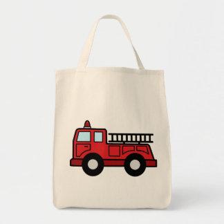 Cartoon Clip Art Firetruck Emergency Vehicle Truck Tote Bag