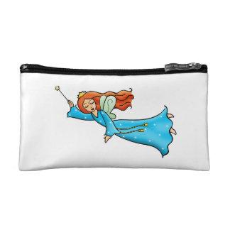 Cartoon Clip Art Flying Fairy Princess Magic Wand Cosmetic Bags
