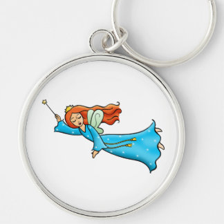 Cartoon Clip Art Flying Fairy Princess Magic Wand Keychain