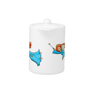 Cartoon Clip Art Flying Fairy Princess Magic Wand Teapot