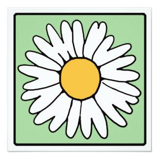 Cartoon Clip Art Garden Gerber Daisy Bridal Shower Custom Invitation