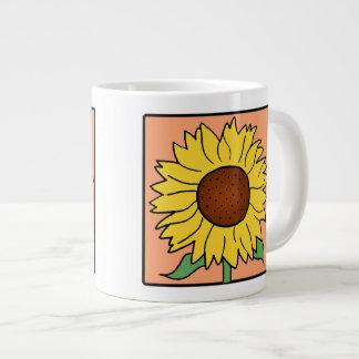 Cartoon Clip Art Garden Summer Sunflower Flower 20 Oz Large Ceramic Coffee Mug