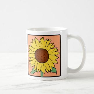 Cartoon Clip Art Garden Summer Sunflower Flower Classic White Coffee Mug