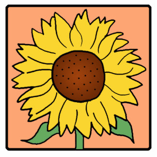 Cartoon Clip Art Garden Summer Sunflower Flower Cutout