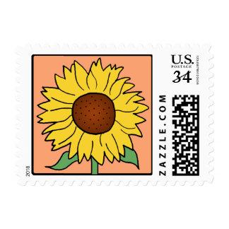 Cartoon Clip Art Garden Summer Sunflower Flower Postage