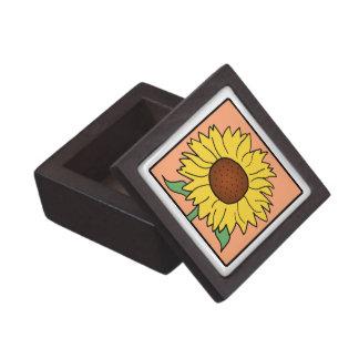 Cartoon Clip Art Garden Summer Sunflower Flower Premium Gift Boxes