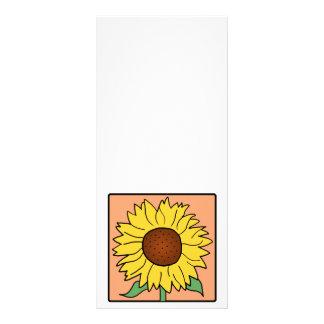 Cartoon Clip Art Garden Summer Sunflower Flower Full Color Rack Card