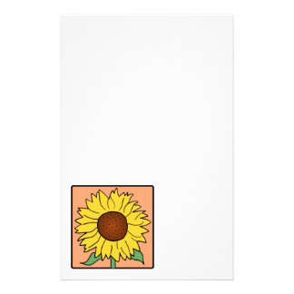 Cartoon Clip Art Garden Summer Sunflower Flower Stationery