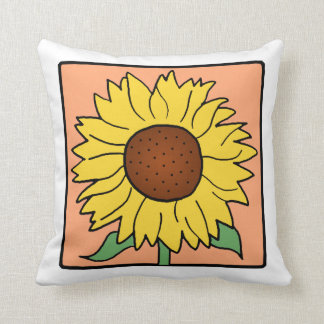 throw pillow clipart. cartoon clip art garden summer sunflower flower throw pillow clipart