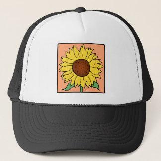 Cartoon Clip Art Garden Summer Sunflower Flower Trucker Hat