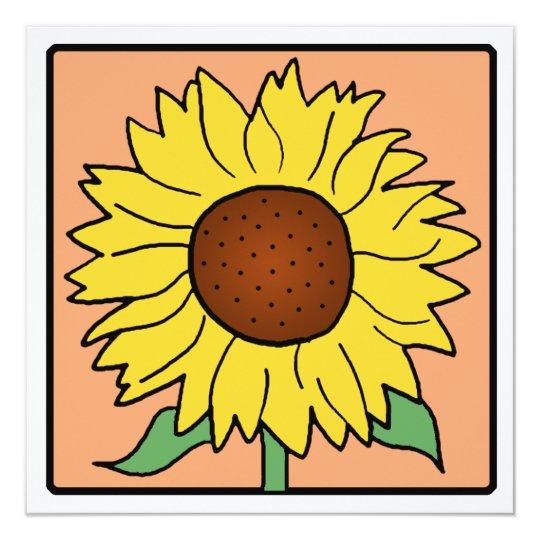 Cartoon Clip Art Garden Sunflower Bridal Shower Card