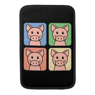 Cartoon Clip Art Laughing Piggie Piggy Pigs! MacBook Sleeve