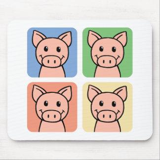 Cartoon Clip Art Laughing Piggie Piggy Pigs! Mouse Pad