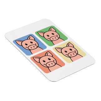 Cartoon Clip Art Laughing Piggie Piggy Pigs! Magnet