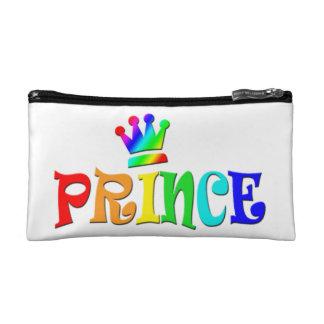 Cartoon Clip Art Rainbow Text, Prince and Crown Cosmetics Bags