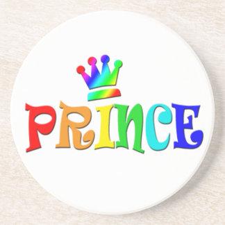 Cartoon Clip Art Rainbow Text, Prince and Crown Coaster