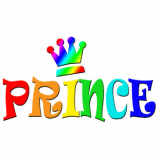 Cartoon Clip Art Rainbow Text, Prince and Crown Statuette