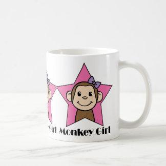 Cartoon Clip Art Smile Monkey Girl Pink Star Bow Coffee Mug