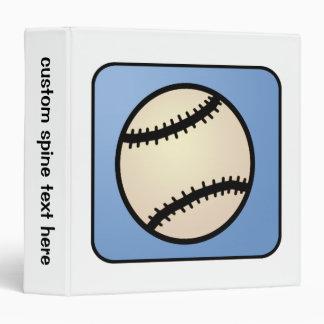Cartoon Clip Art Sports, Baseball, Blue Background Vinyl Binder