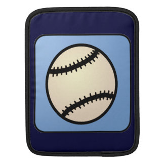 Cartoon Clip Art Sports, Baseball, Blue Background iPad Sleeve
