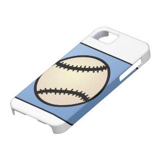 Cartoon Clip Art Sports, Baseball, Blue Background iPhone SE/5/5s Case