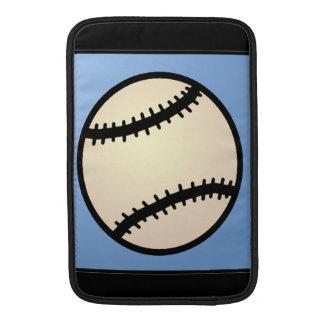 Cartoon Clip Art Sports, Baseball, Blue Background MacBook Air Sleeve