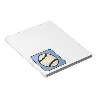 Cartoon Clip Art Sports, Baseball, Blue Background Notepad